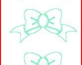 DIY Vinyl Bow Decals...Preppy....Use with Monograms......You Choose Color...1 Half Sheet of Bows to Use On Projects
