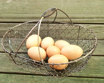 Chicken Wire Basket / Rustic Basket / Containers / Etsy Craft Supply and Photo Prop from the Tiny House Farm