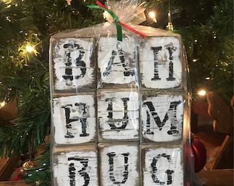 BAH HUM BUG Rustic Christmas Decor-Bah Hum Bug Decor-Bah Hum Bug Christmas Decor