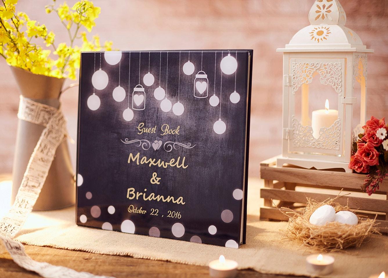 Rustic Wedding Guest Book Alternative Rustic Guest Book Custom