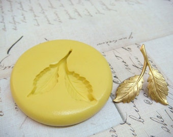 LEAVES - Flexible Silicone Mold - Push Mold, Jewelry Mold, Polymer Clay Mold, Resin Mold, Craft Mold, Food Mold, PMC Mold