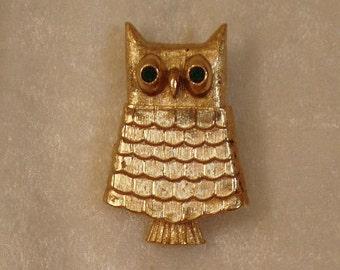 Owl Perfume Brooch by AVON