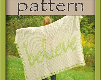 PATTERN Crochet Believe Afghan - PDF No. 121 - Instant Download