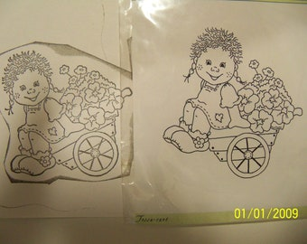 Bildmalarna unmounted rubber stamp: Tossa-cart