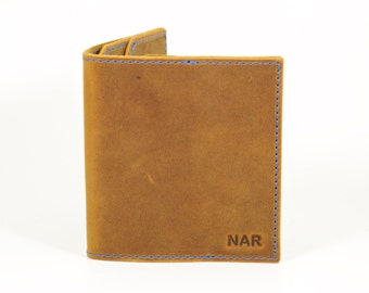 Leather Wallet, Minimal Leather Wallet, Crazy Horse Leather Wallet, Mens Leather Wallet, Bifold Wallet, Thin Leather Wallet