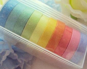 Rainbow Washi Tape Set Stationery Masking Deco Tape