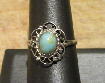 Turquoise ring set in Sterling Silver.