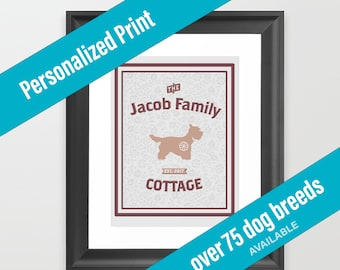 Dog Print Cottage Decor | Country Theme | Westie | Over 75 Dog Breeds Available | Housewarming Gift
