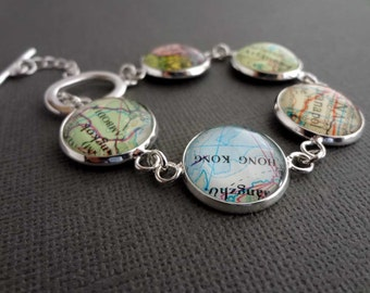 Personalized Jewelry, Silver Bracelet, Custom Jewellery, Bride Gift, Spring Wedding Gift, Bridesmaid Gift