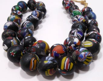 Trade Beads Jewelry, Round Millefiori Trade Bead Necklace, Venetian Beads, Statement Jewelry, Bold Colorful Beads, Jewelry, Tribal Necklace