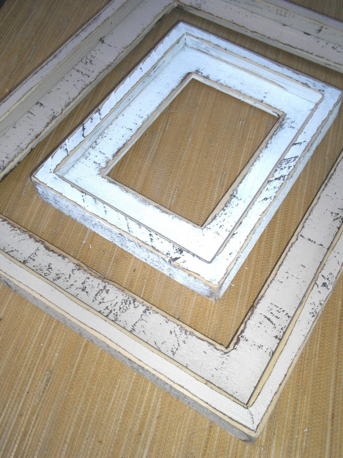 Shabby chic picture frame 16x24 18x24 or 20x24 large rustic zoom jeuxipadfo Choice Image