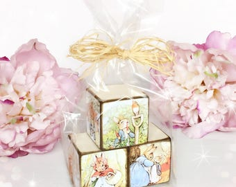New!! Set of Wooden Picture Blocks...Peter Rabbit & Friends...