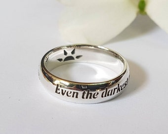 Les Misérables Ring, Victor Hugo Quote, Quote Ring, Motivational Quote, 925 Sterling Silver, Handmade.