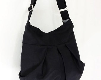 Handbags Canvas Bag Shoulder bag Hobo bag Boho  bag Tote bag Messenger Purse Everyday bag  Black  Mandy