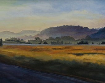 Morning Drive, Archival Giclee print by Cynthia Woehrle