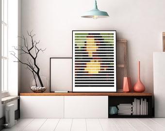 Pixelated Pantone Mona Lisa - by Leonardo da Vinci