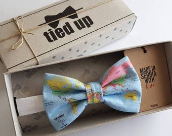 World map Bow Tie, Earth map bowtie, Bowtie geographic.Wedding Bow tie. Bow tie,Bowties,Bow tie for men,Bow tie for women,Bow tie for kids.