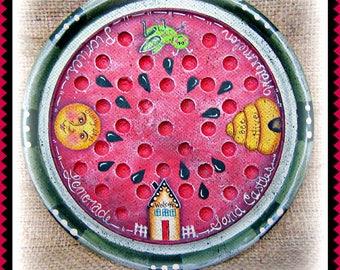 Apple Tree Cottage Original Design E Pattern - Watermelon Gameboard