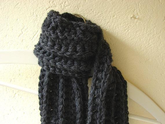 Patrón bufanda grueso del ganchillo bufanda de ganchillo