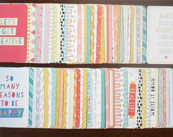 DOODLE EDITION Partial 1/4 Core Kit 154 Cards 3x4+4x6 Project Life Becky Higgins Pocket Page Planner Scrapbook