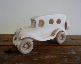 Vintage Style Wood Toy Truck Panel-Handmade-All Natural-Eco Friendly-Heirloom Toy Truck