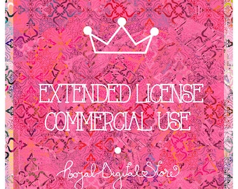 Extended License for Commercial Use / NO credit add-on