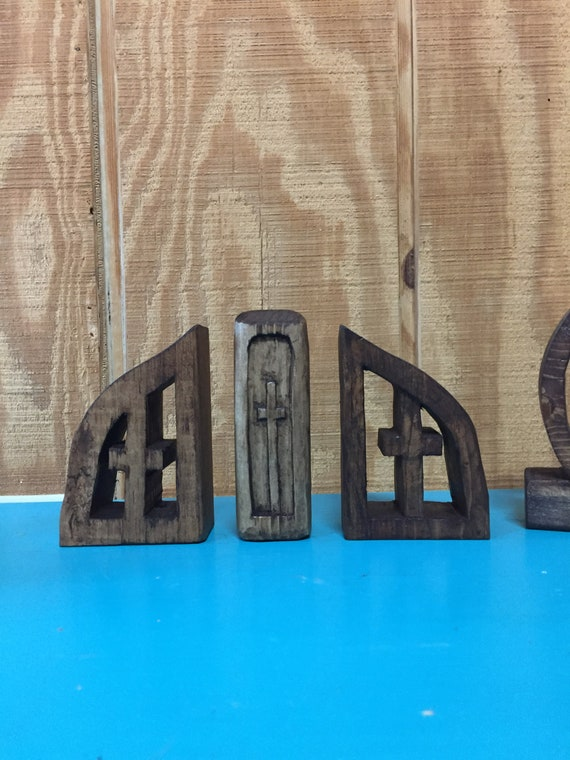 Calvary Wooden Cross Carvings  | Three Crosses Each Approximately 4 inches Tall | Stan's Wood Pile Carvings