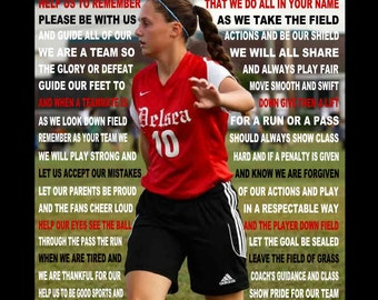 The Soccer Prayer personalized  with photo, Soccer prayer, Soccer print,  Prayer for Soccer,  Sports Prayer, Senior Night, Sports banquet