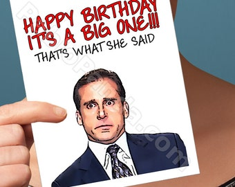 Funny Birthday Card | The Office | Best Friend Birthday Card Micheal Scott For Boyfriend Friend Birthday Card Gift For Women Birthday Card