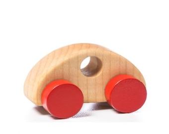 Wooden toy car organic and eco montessori