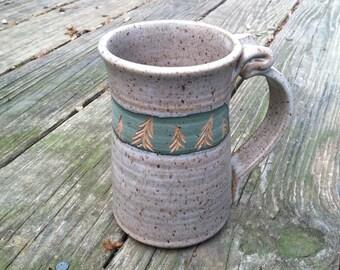 Tree Mug, Pine Tree Pottery