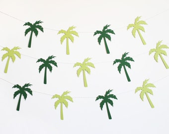 Palm Tree Tropical Party Banner - Customizable Colors