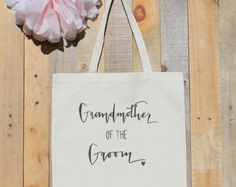 Grandmother of the Groom Wedding Family Gift Tote Bag