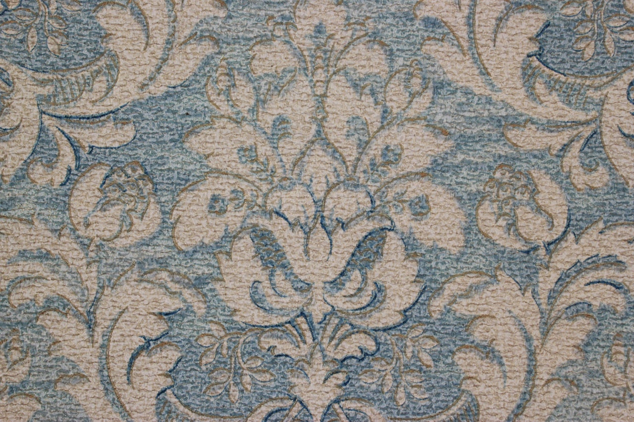 Description This Listing Is For One Yard Of This Rare Antique Wallpaper