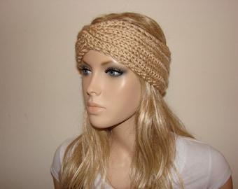 Items similar to Burgundy Knit Turban Headband cd0a732352fc