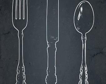 Eat, Drink, Be Merry Set-  three 13x19 fine art  prints