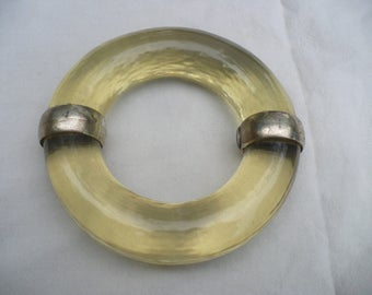 JEAN PAUL GAULTIER Huge Runway Couture vintage 90's clear lucite bracelet