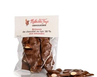 Dark chocolate with almond, Chocolate bark, almond chocolate, dark chocolate, milk chocolate, fine chocolate, roasted almond chocolate