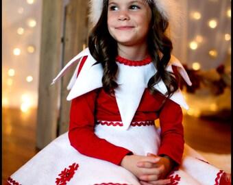 Christmas Shelf Elf Santa's Helper Tutu Dress Costume (Newborn - 5T)