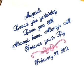 Groom Handkerchief -Hankie - Hanky - Loved you YESTERDAY - Love you STILL - Gift for Groom from Bride - Wedding