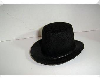"Black Felt Top Hat/ 2"" by 4""/ Craft Supplies*"