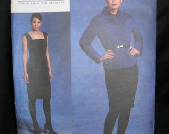 Size 6 - 12, 14 - 20, Vogue 1123, Jacket and Dress, Anne Klein New York, Vogue American Designer, 2009, advanced difficulty, factory folded