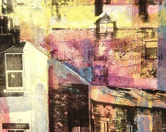 Rooftops above Nutclough (Limited edition archival print -size 1)
