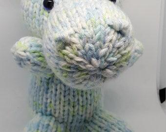 Pastel Knit Hippo