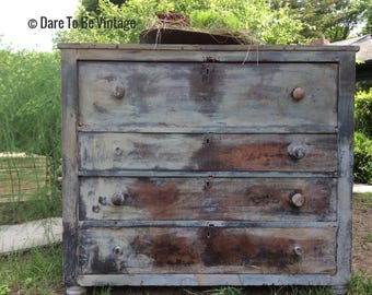 Sold Rustic Farmhouse Dresser - Painted Dresser - Bohemian Dresser - Painted Buffet - Primitive Dresser - Rustic Dresser - White Dresser