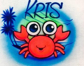 Airbrush cute crab, Airbrush crab, baby crab