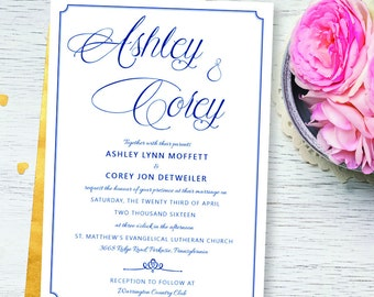Wedding Invitation | Wedding Invitation Printable | Wedding Invitations Sets | Wedding Invitation and RSVP | Wedding Invitations Suite