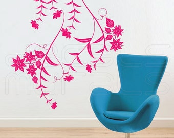Wall decals HANGINING FLOWERS Floral surface graphics interior decor by Decals Murals(40x35)