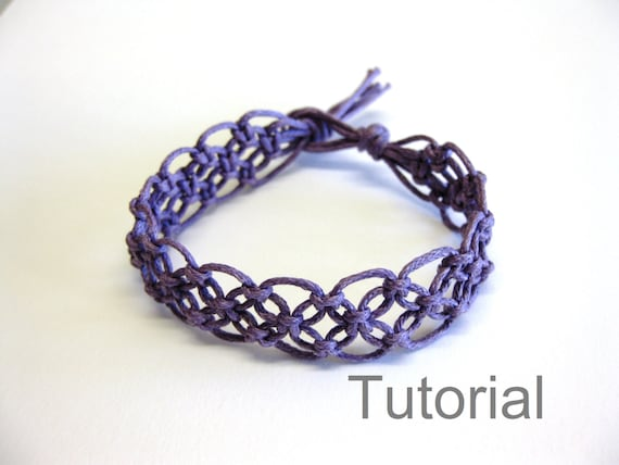 lacy macrame bracelet pattern tutorial pdf purple step by step. Black Bedroom Furniture Sets. Home Design Ideas
