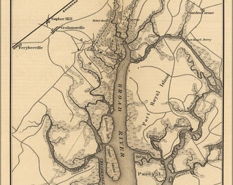 Poster, Many Sizes Available; Map Of Broad River, South Carolina